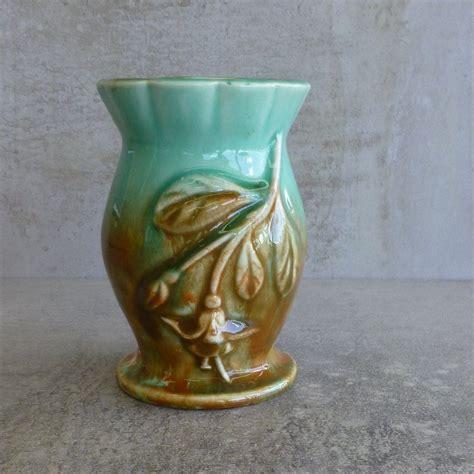 vintage diana pottery drip glazed vase  fuchsia design