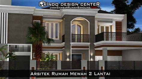 denah rumah  lantai mewah desain rumah mewah modern