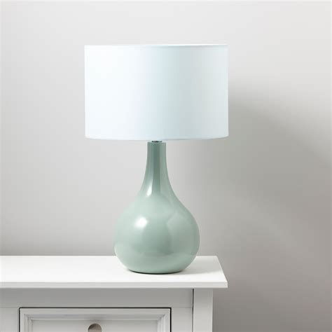 portia duck egg blue table lamp departments diy  bq