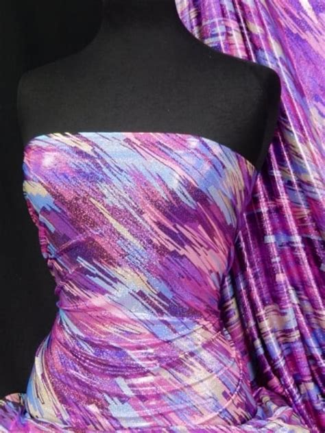 stretch foil hologram rainbow foil stretch spandex 90s pink pop