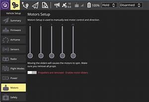 Motors  U00b7 Qgroundcontrol User Guide