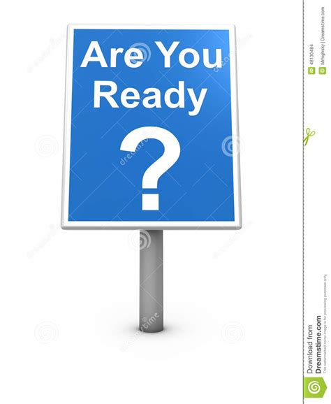 Are You Ready Sign Board Stock Illustration Illustration Of Board 48130484