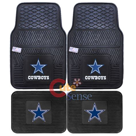 dallas cowboys car floor mat 4pc rubber utility fanmats nfl auto accessories ebay