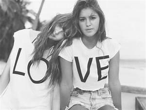 beach, best friends, black &, white, cute - image #529730 ...