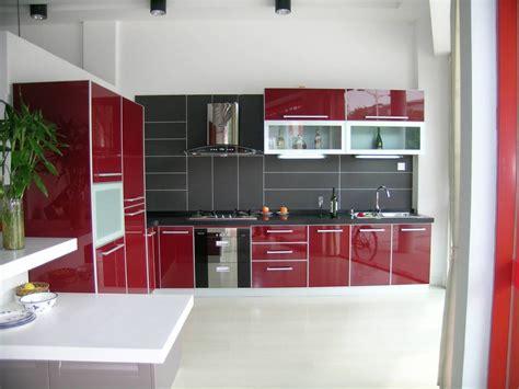 Luxury Red White And Black Kitchen Tiles On Kitchen
