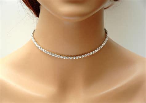 metallic choker rhinestone choker necklace bridal necklace gold