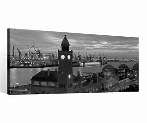 Schwarz Weiß Bilder Gerahmt : leinwand 1 tlg hamburg schwarz wei skyline stadt hafen bilder wandbild 9c124 holz fertig ~ Watch28wear.com Haus und Dekorationen