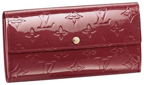 louis vuitton sarah wallet red monogram vernis leather clutch tradesy