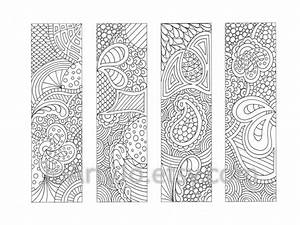 coloring page bookmarks zendoodle zentangle inspired With book marker template