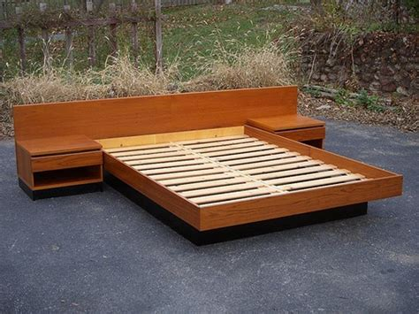 Bed Plans by How To Build Platform Bed Plans The Home Redesign