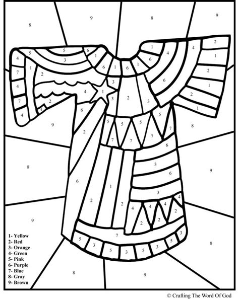 Kleurplaat Jas Jozef by Joseph Coat Of Many Colors Coloring Pages Carol S