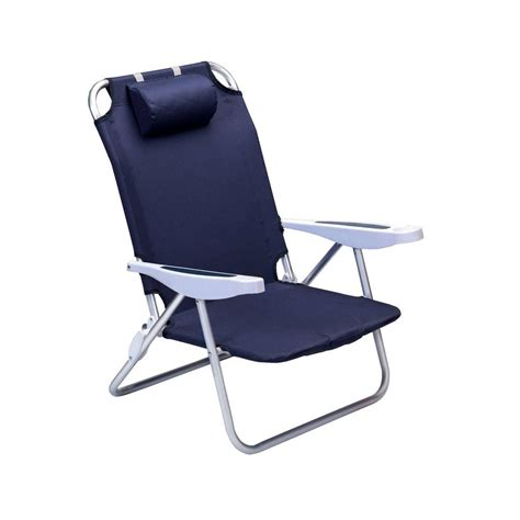 Picnic Time Portable Reclining C Chair Navy by Picnic Time Navy Monaco Patio Chair 790 00 138 000 0