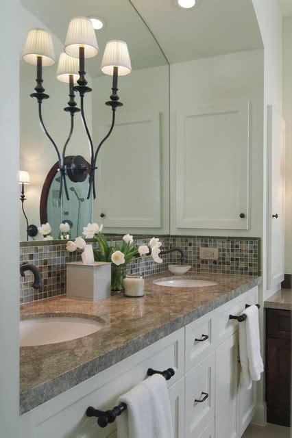 How To Hang A Bathroom Cabinet On The Wall by Master Bath Remodel In Transitional Style Traditional