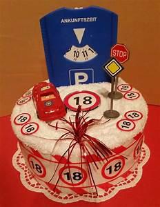 Handtuchtorte * Geburtstagstorte **18 Geburtstag