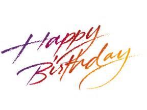 Happy Birthday Words Clip Art Transparent
