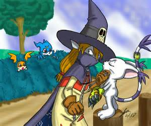 Digimon Gatomon Wizardmon