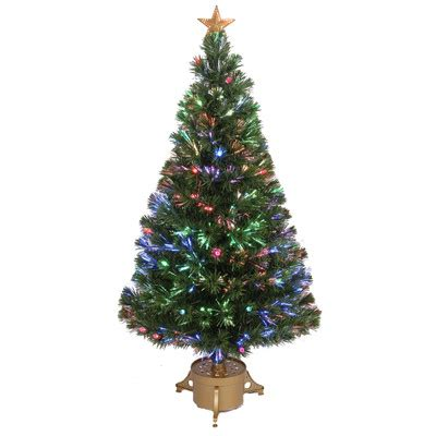 fiber optic 4 green artificial christmas tree with led