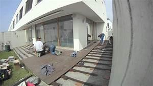 Terrassenbau mit wpc zeitraffer youtube for Terrassen bau