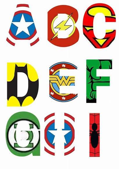 Superhero Letters Alphabet Clipart Printable Superheroes Letras