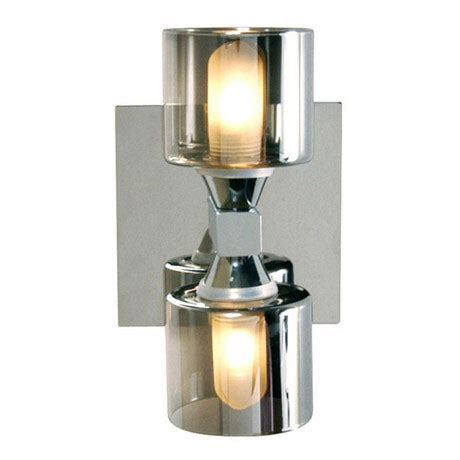 taurus 2 light wall fitting spa 20283 chr at
