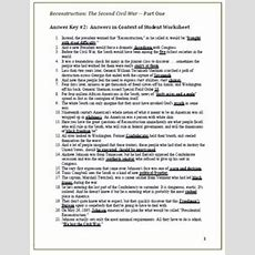 Reconstruction 1865 To 1877 Worksheet Answers Breadandhearth