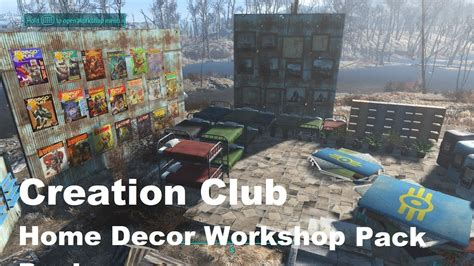 Fallout 4 Home Decor Workshop Pack : Fallout 4 Creation Club Home Decor Workshop Pack! (ps4) 85