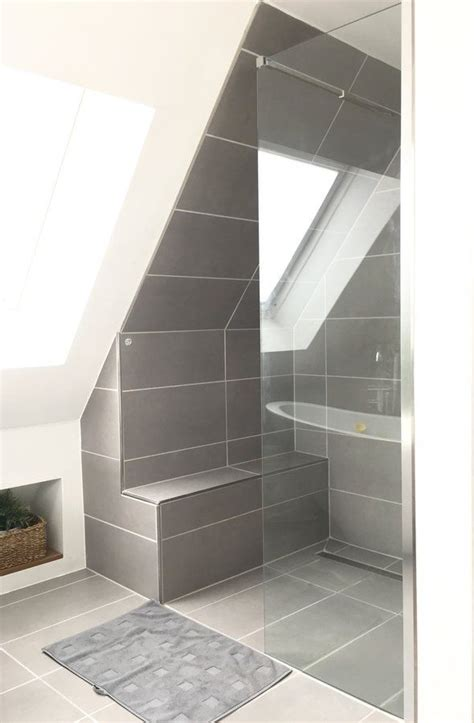 Dusche Mit Schräge by Dusche Endlich Fertig Dachgeschoss