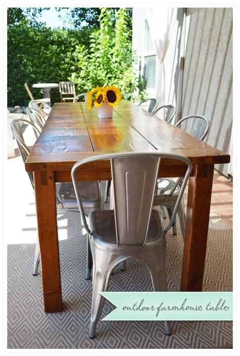 outdoor farmhouse dining table the 25 best outdoor farmhouse table ideas on pinterest