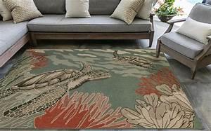 enchanted seascape indoor outdoor rug 8 x 10