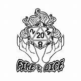 Dragons Dice Dungeons D20 Svg Fireball Fire Dnd Dragon Clip Clipart Cricut Coloring Cutting Vectorified Tshirt Decal Vinyl Graphic Cut sketch template