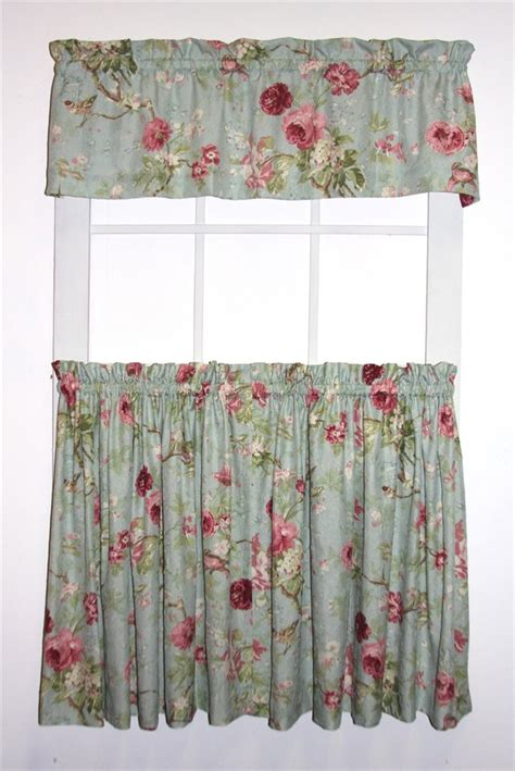 floral print drapes balmoral gardens floral print tailored tiers valance