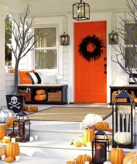 Pottery Barn Indoor Outdoor Curtains by Fall Front Porch Ideas Pumpkins