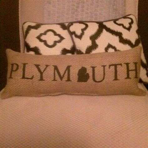 Plymouth coffee bean plymouth sihtnumber 48170. More Plymouth pillows! Customize with your hometown name! | Burlap pillows, Pillow crafts, Black ...