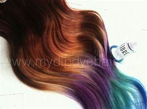 Auburn Ombre/Auburn Hair Extensions/Auburn/Purple/Green ...