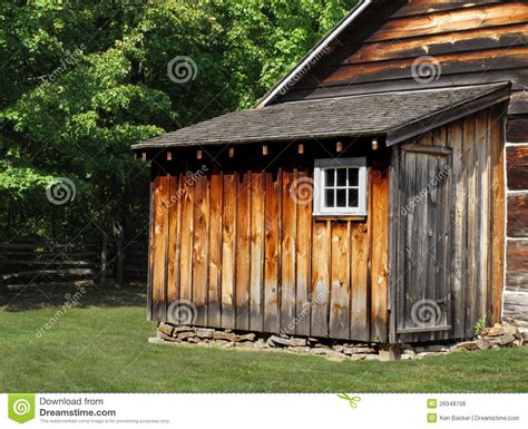 rustic wooden shed royalty  stock image image