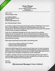 food service cover letter samples resume genius With restaurant promotion letter sample
