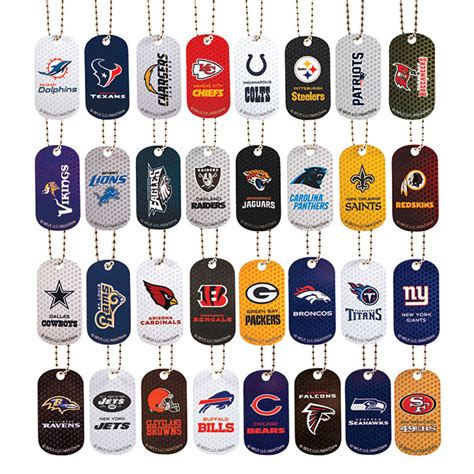nfl football licensed team dog tags custom sticker shop