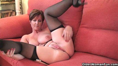 British milf Joy exposing her big tits and hot fanny - MILF Porn