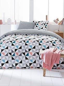 parures de lit adulte linge de maison kiabi