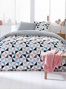 Parure De Lit Fille 90x190 : parures de lit adulte linge de maison kiabi ~ Teatrodelosmanantiales.com Idées de Décoration