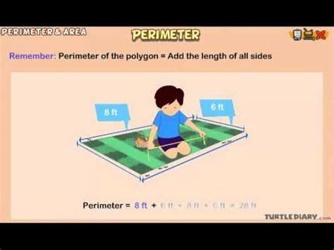 perimeter animated math lesson  grade  youtube