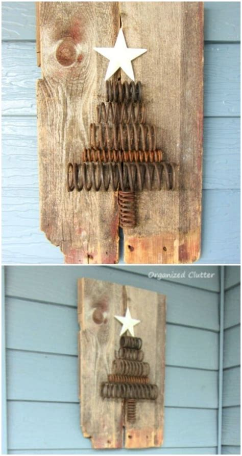 rustic farmhouse inspired diy christmas decoration