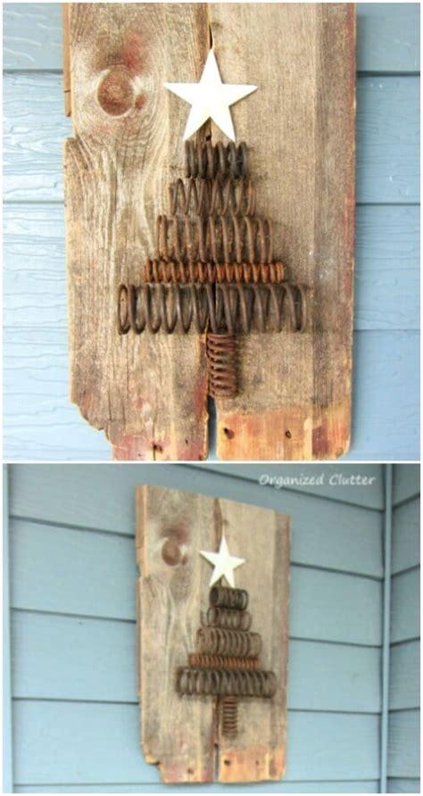 rustic farmhouse inspired diy christmas decoration