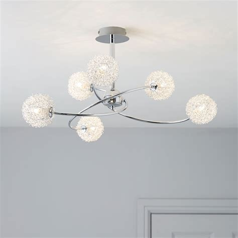pallas chrome effect 6 l pendant ceiling light