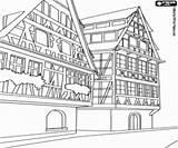 Edificios Colorear Buildings Gebouwen Coloring Alpine Estilo Kleurplaten Alpino Construcciones Dibujos Edificio Stijl Building Pintar Constructions Constructies Andere Imprimir Otras sketch template