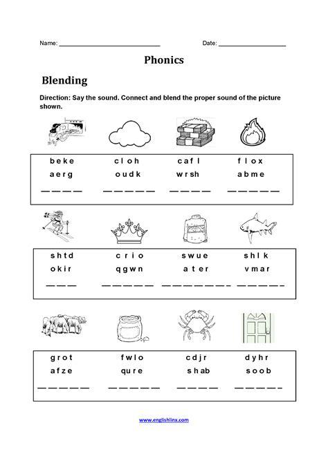 blends worksheet grade  diy worksheet