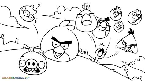 Angry Bird Terence Coloring Page