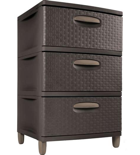 Drawers And Storage by Sterilite Three Drawer Storage Chest In Storage Drawers