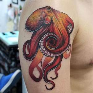 40+ Fascinating Squid and Octopus Tattoo Designs - TattooBlend