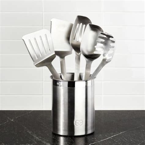 calphalon stainless steel kitchen utensil set  p reviews crate  barrel
